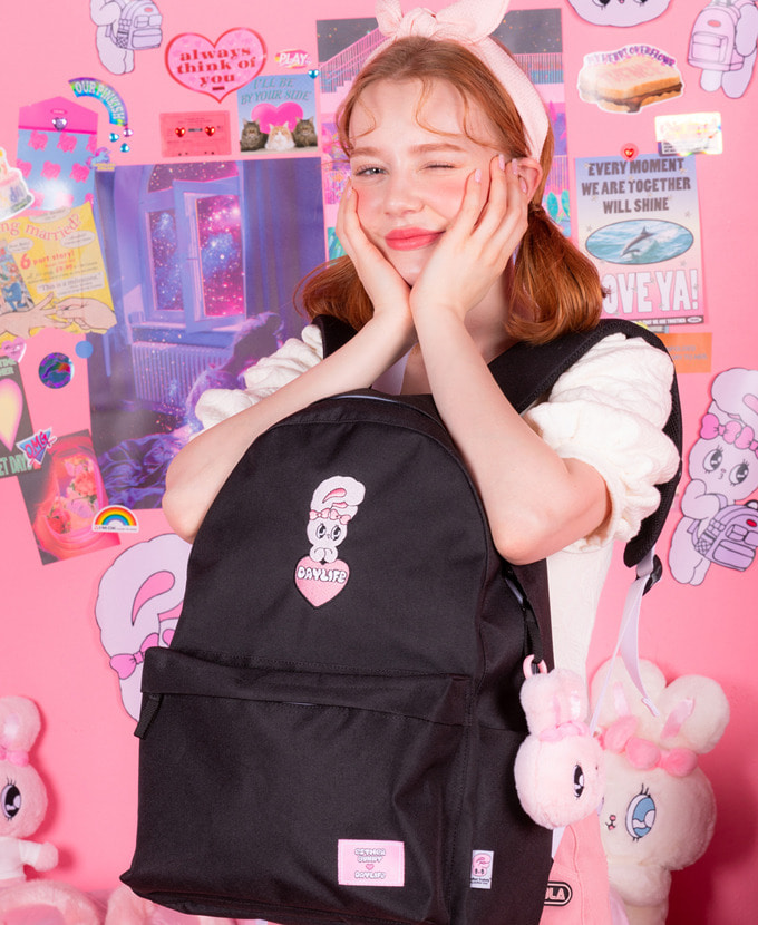 ★NEW COLLABORATION★デイライフ♥エスダバニー BIG HEART DAY BACKPACK(BLACK)