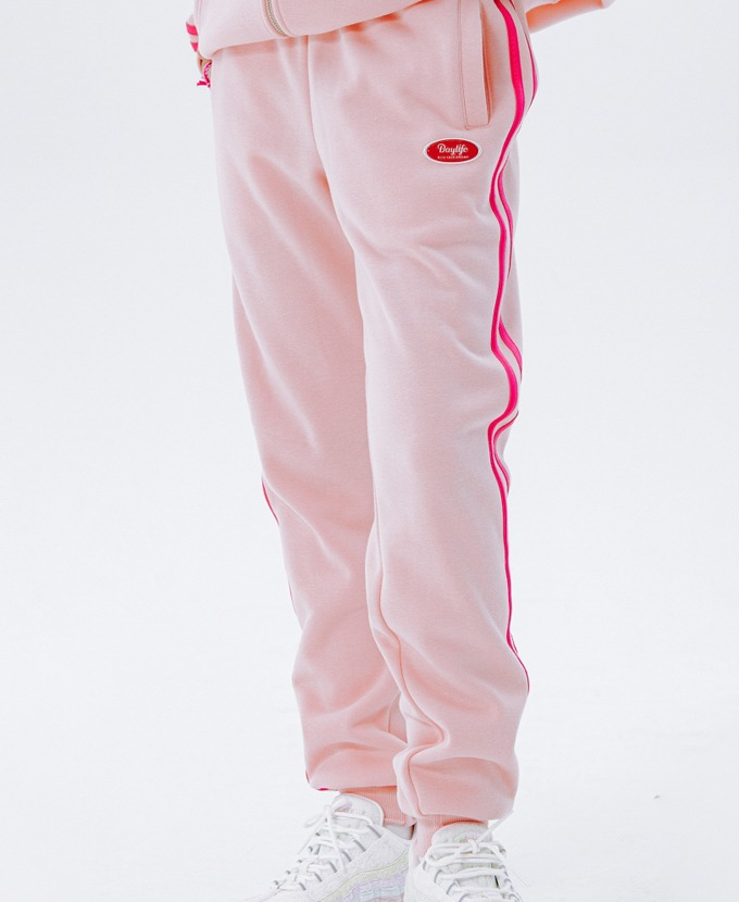 DAYLIFE LINE SWEAT PANTS (PINK)