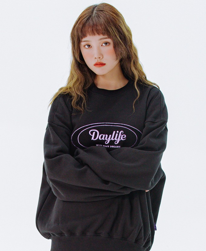 DAYLIFE LOGO SWEAT SHIRTS (BLACK)