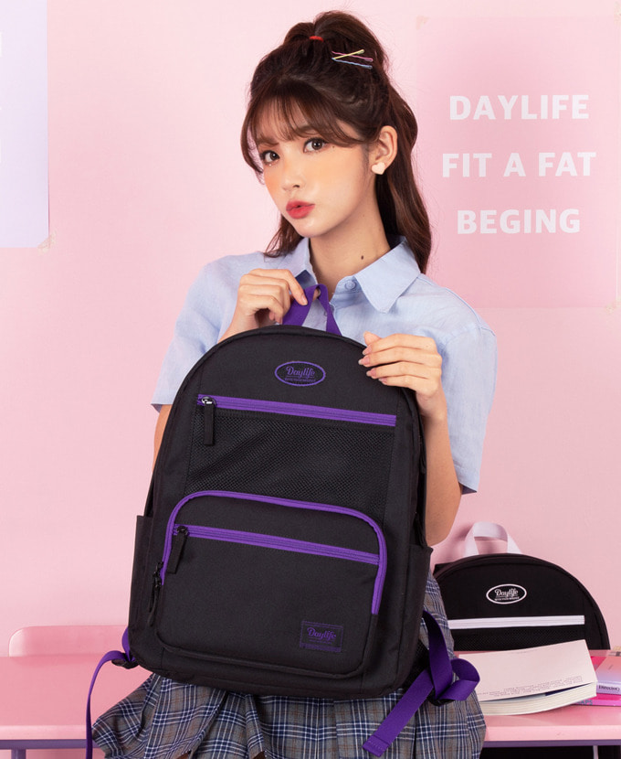 DAYLIFE LAYER BACKPACK(BLACK/VIOLET)