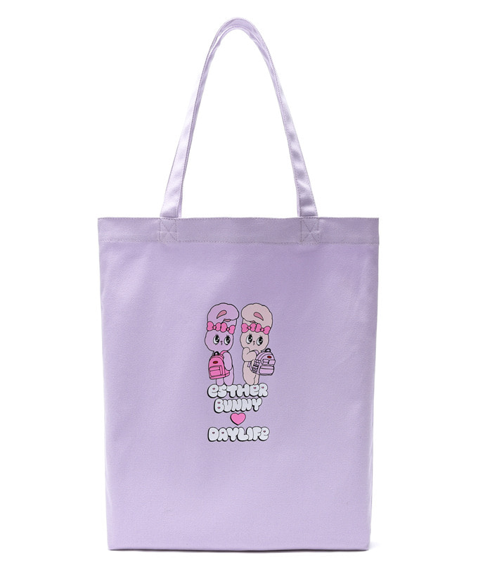 ★NEW COLLABORATION★デイライフ♥エスダバニー TWIN ECO BAG(PURPLE)_謝恩品贈呈💝