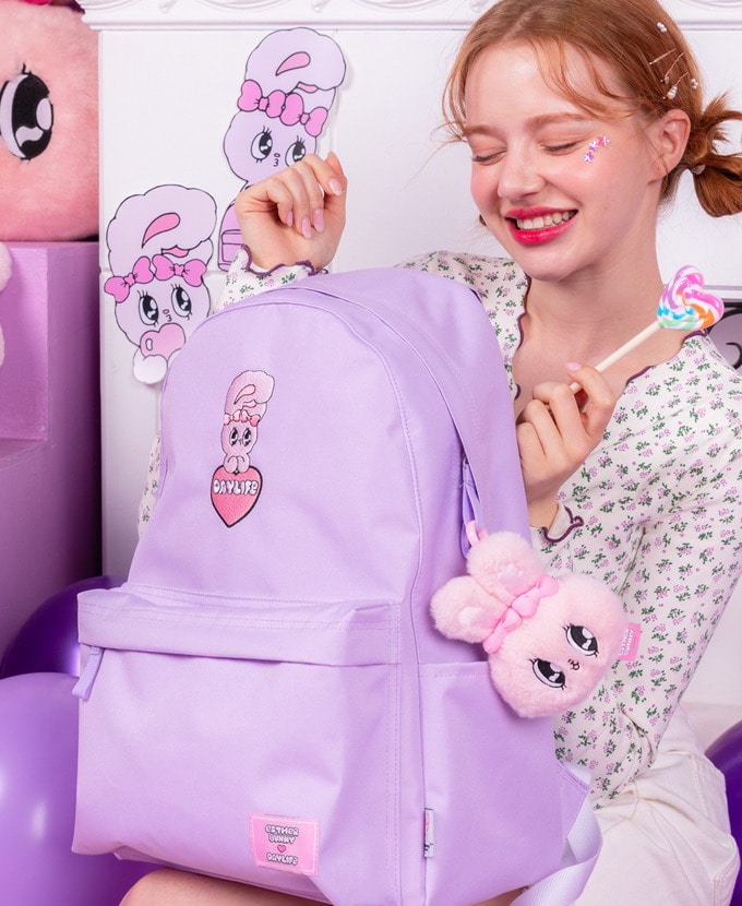 ★NEW COLLABORATION★デイライフ♥エスダバニー BIG HEART DAY BACKPACK(PURPLE)