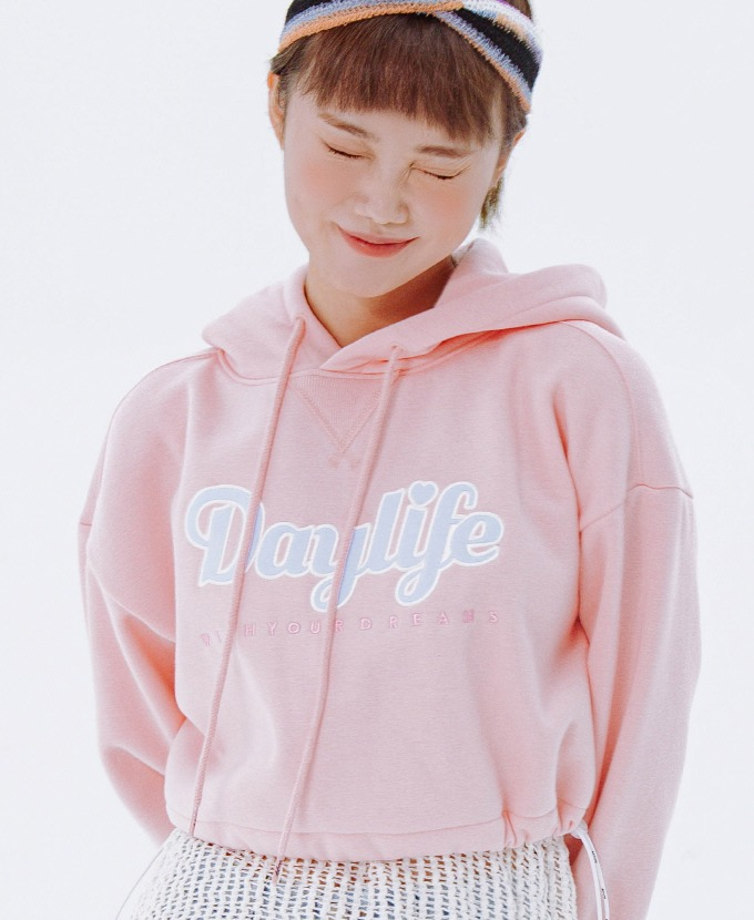 [20FW NEW]DAYLIFE CROP HOODIE (PINK)