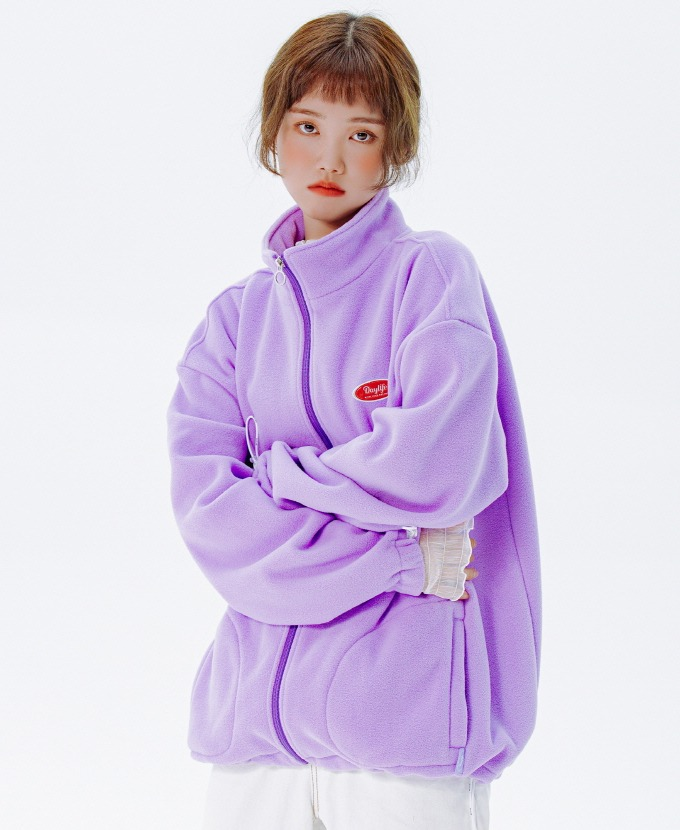 DAYLIFE FLEECE HIGH NECK ZIP-UP (PURPLE)