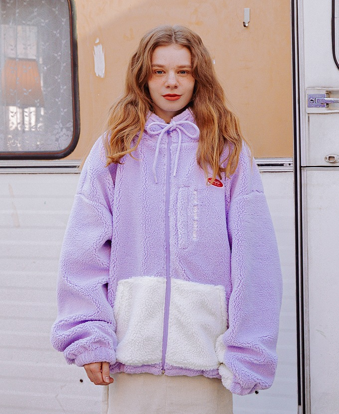 DAYLIFE FLEECE HOOD JACKET (PURPLE)