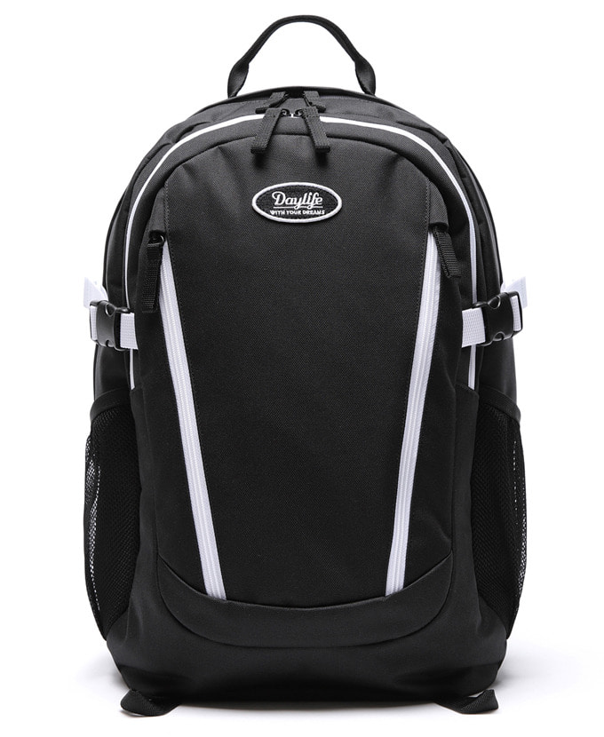 DAYLIFE DOUBLE LINE BACKPACK(BLACK/WHITE)