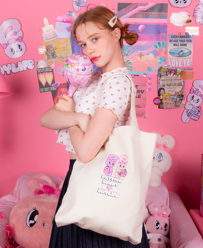 ★NEW COLLABORATION★デイライフ♥エスダバニー TWIN ECO BAG(WHITE)
