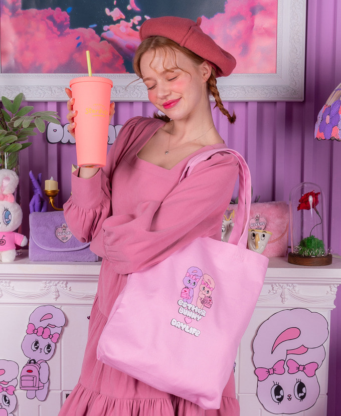 ★NEW COLLABORATION★デイライフ♥エスダバニー TWIN ECO BAG(PINK)