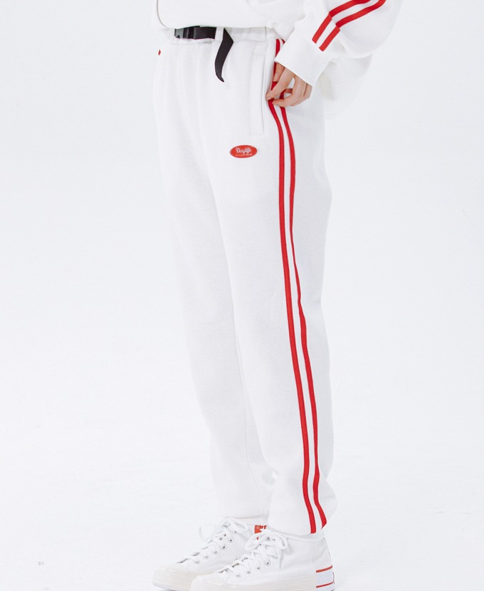 DAYLIFE LINE SWEAT PANTS (WHITE)