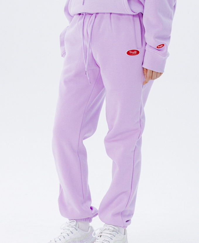 DAYLIFE LOGO SWEAT PANTS (PURPLE)