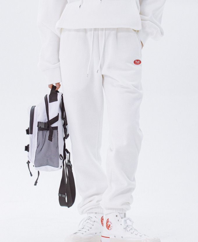 DAYLIFE LOGO SWEAT PANTS (WHITE)