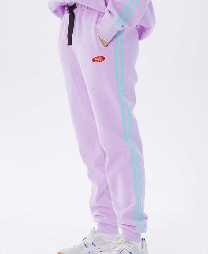 DAYLIFE LINE SWEAT PANTS (PURPLE)