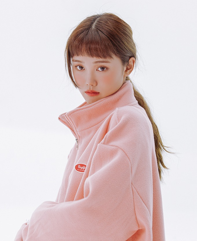 DAYLIFE FLEECE HIGH NECK ZIP-UP (PINK)