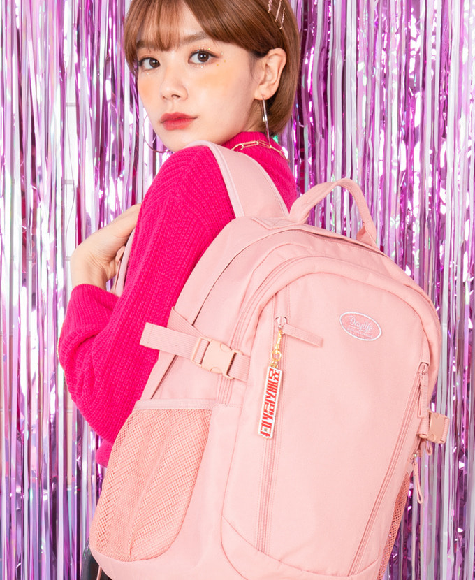 DAYLIFE DOUBLE LINE BACKPACK(PINK)