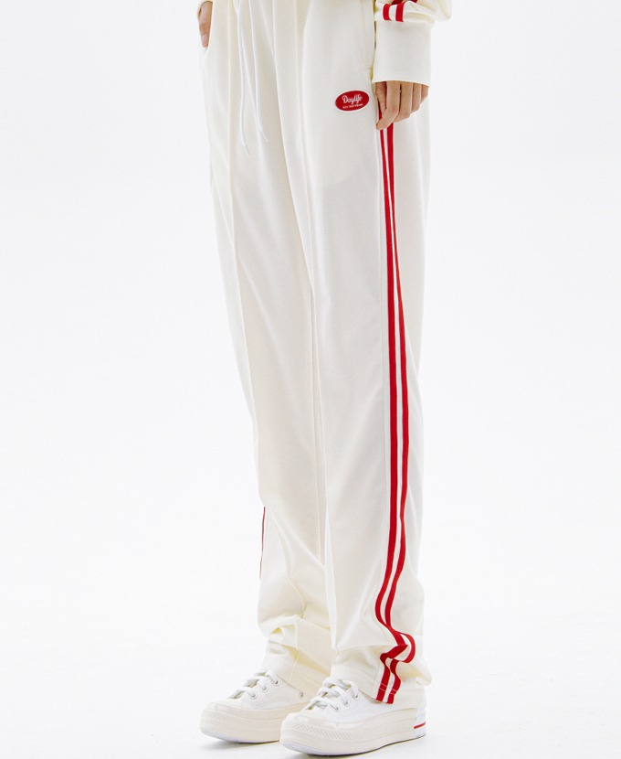 DAYLIFE LINE TRACK PANTS (WHITE)
