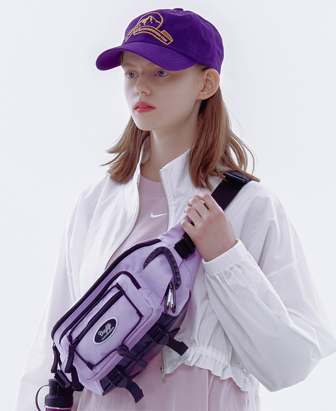 [5月26日入荷予定]DAYLIFE FLAP STRING WAIST BAG (PURPLE)_ギフト贈呈🎁